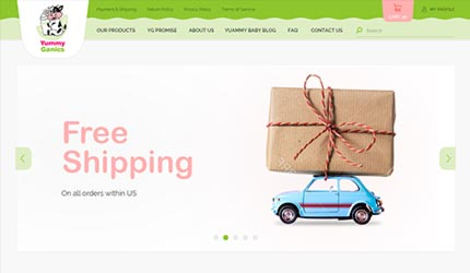 Custom personalized commerce portal and well designed website